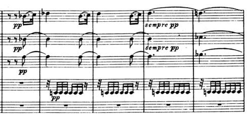 Kohtalonsinfonia, säestyskuvio