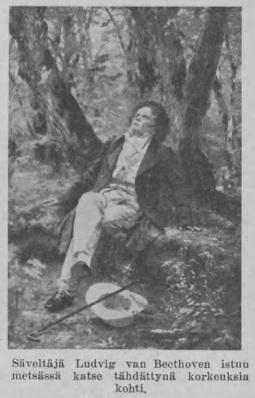 kuva - Beethoven metsässä