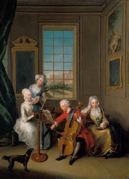 'The Music Party': Frederick, Prince of Wales with his Three Eld